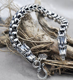S925 Sterling Silver Dragon Scale Retro Bracelet
