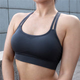 Seamless Hollow Out Fitness Gym Bra