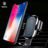Car Mount Qi Wireless Charger For iPhone X-S9-S8