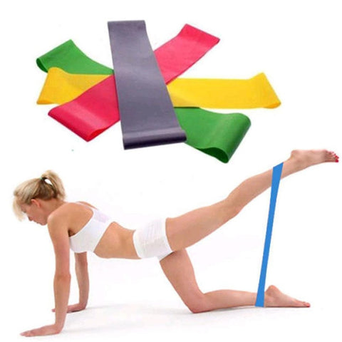 2pcs Colorful  Resistance Band Loop Yoga
