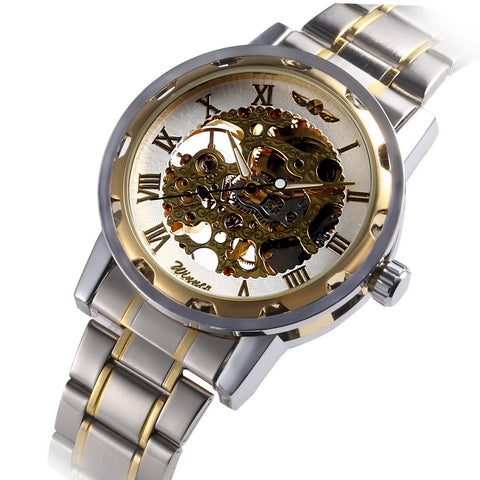 Manual Mechanical Watch (Gold Band)