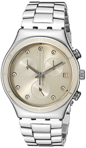 Swatch Women's YCS583G Irony Chrono Analog Display Quartz Silver Watch