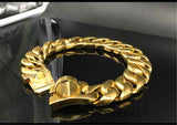 Gold Plated Miami Cuban Link Dog Collar Jewelry