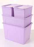 Set of 4  Storage Bins