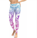 JIGERJOGER 2018 new blue decolorization Mandala Pink leggings women plus size XL Athletic Yoga Leggings Running fitness workout pants