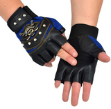 PU Leather Skull Biker Gloves Unisex