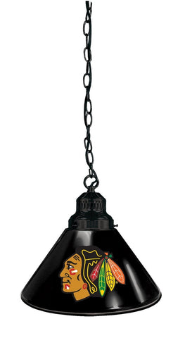 Chicago Blackhawks Pendant Light with Black Shades