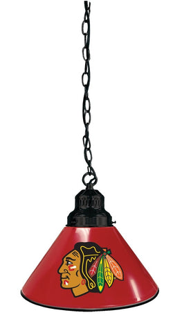 Chicago Blackhawks Pendant Light with Red Shades