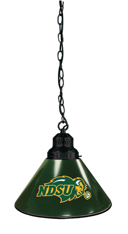 North Dakota State Pendant Light with Green Shades