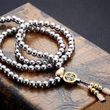 Self Defense 108 Buddha Beads Necklace