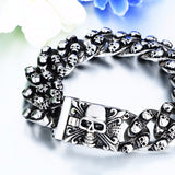 Domineering Gothic Silver Plated Bracelets