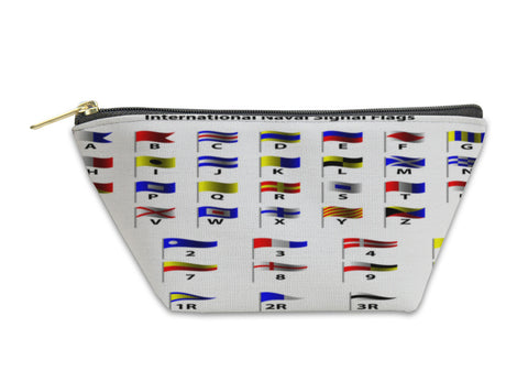 Accessory Pouch, Nautical Flags