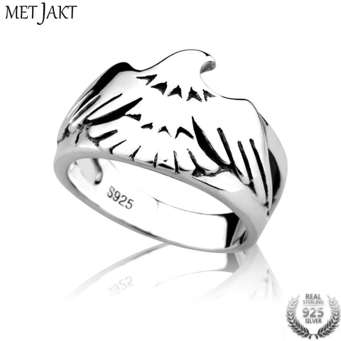 Silver Eagle Glossy Ring  Handmade Jewelry