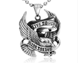 "Rider Self-Defense Necklace ""Live to Ride"""