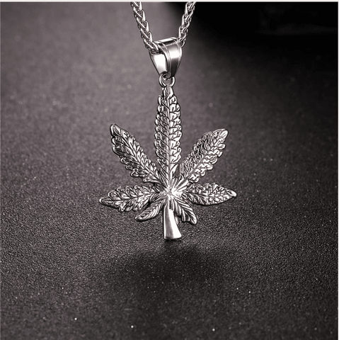 Weed Pendant - (SELF-DEFENSE CHAIN ATTACHABLE - SEE DESCRIPTION FOR COMPATIBILITY)