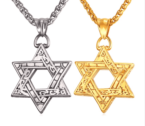 Star of David Pendant - (SELF-DEFENSE CHAIN ATTACHABLE - SEE DESCRIPTION FOR COMPATIBILITY)