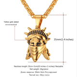 American Rebel Statue of Liberty Pendant - (Self-Defense Chain Attachable).