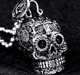 Gothic Skull Self-Defense Necklace