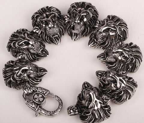 Men Bracelet Lion Cross