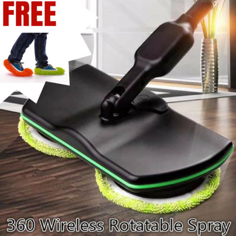 360 MICROFIBER WIRELESS ROTARY ELECTRIC MOP