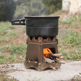 Portable Folding Wood Stove Lightweight (Backpacking, Camping, Survival)