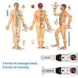 Acupuncture Pen + 2 Gel & Massage Heads+ FREE Ear Acupuncture Point Probe