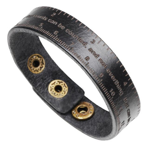 EDC Leather Ruler Bracelet
