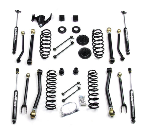 JK 2 Door 3 Inch Lift Kit W/8 FlexArms And 9550 Shocks 07-Pres Wrangler JK TeraFlex