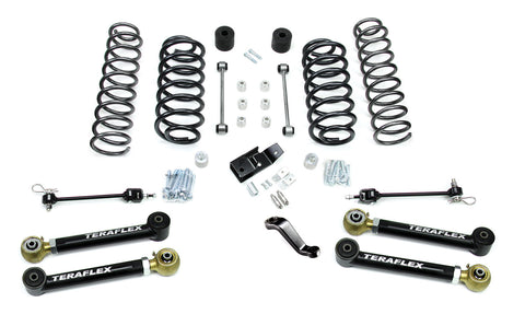 TJ 4 Inch Lift Kit W/4 Lower FlexArms And Trackbar 97-06 Wrangler TJ TeraFlex