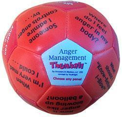 Anger Management Thumball for Exploring Helpful Ways to Manage and Express Anger