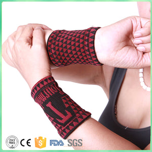 Tourmaline Medical Wrist Support Sleeve; Wrist Support Pads / Magnetic Therapy Wrist Wrap
