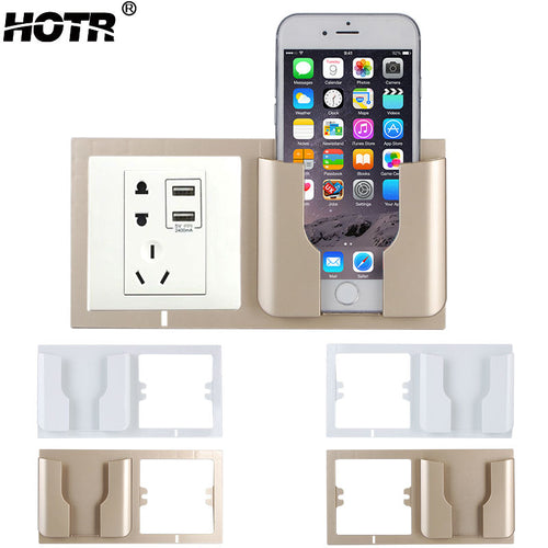 Wall Phone Holder Home Charging Storage Box Mobile Phone Holder Wall Support