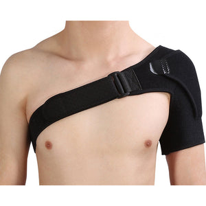 Shoulder Brace with Pressure Pad for Hot Cold Therapy Ice Pack Pain Injury Shoulder Posture Corrector Strap