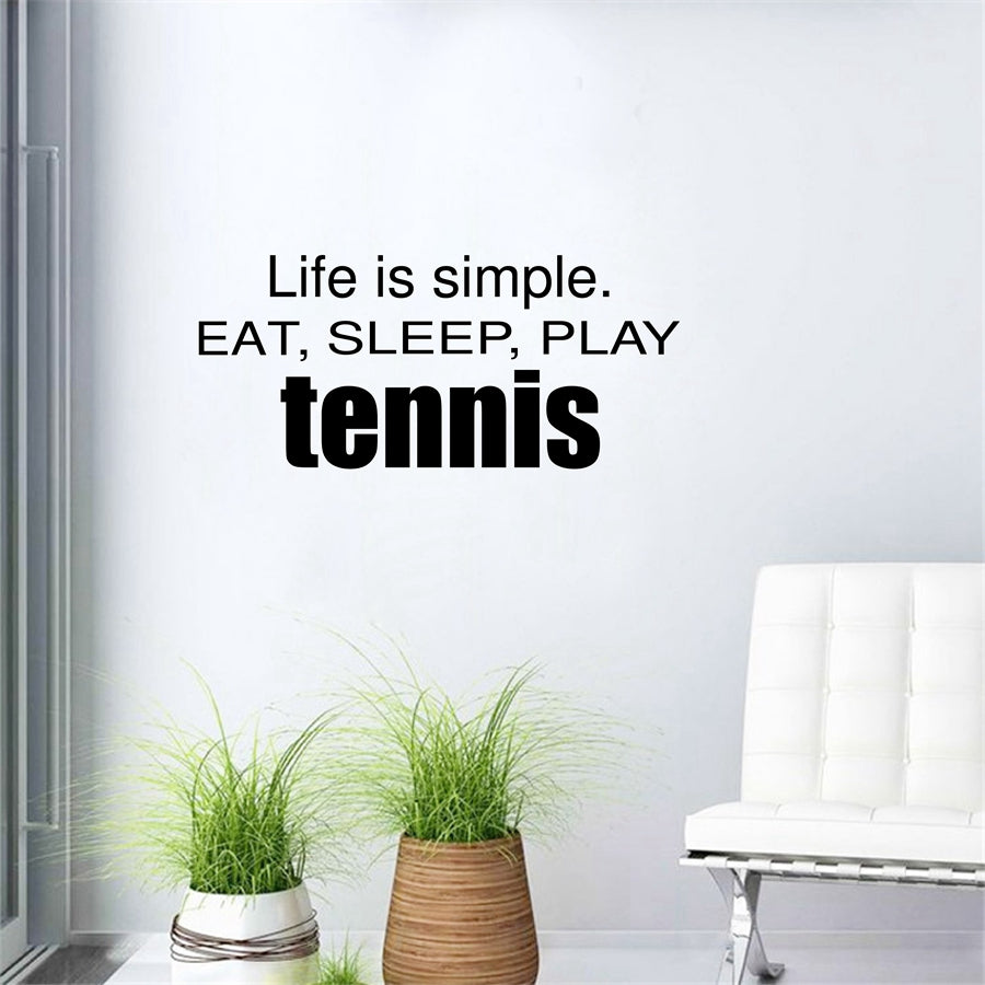 Tennis Vinyl Wall Stickers / Decals, Tennis Sports Wall Decal Art , Mural  ...