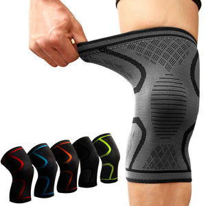 1 pair Sports Fitness Running Cycling Knee Support Braces Elastic Nylon Sport Compression Knee Pad Sleeve for Basketball Volleyball