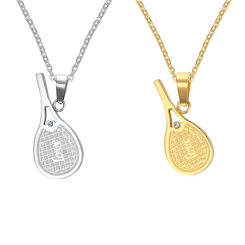 Couple necklace girls boys necklaces lovers tennis rackets pendant couple necklace girls boys necklaces lovers tennis rackets pendant for men women sport tennis jewelry mozeypictures Gallery