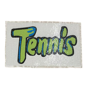 Tennis Iron-on Patch clothes iron on Patches for clothing T-shirt Sequins stickers