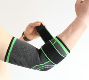 Elastic Bandage Tennis Elbow Support Brace Protector Basketball Running Volleyball Compression Adjustable Elbow Pads Brace