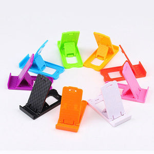 Universal Cellphone Stand Mount Phone Holder For Smartphone Folded Holder Adjustable Support ( Random Color)
