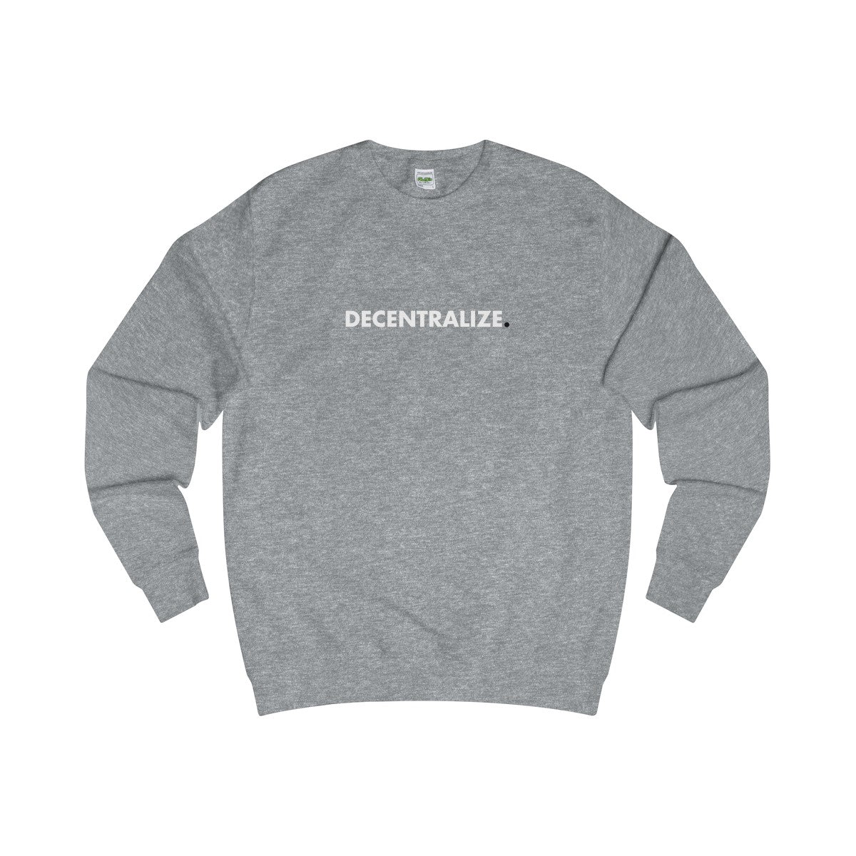 Sweater | Decentralize - Heather Grey - Cryppify