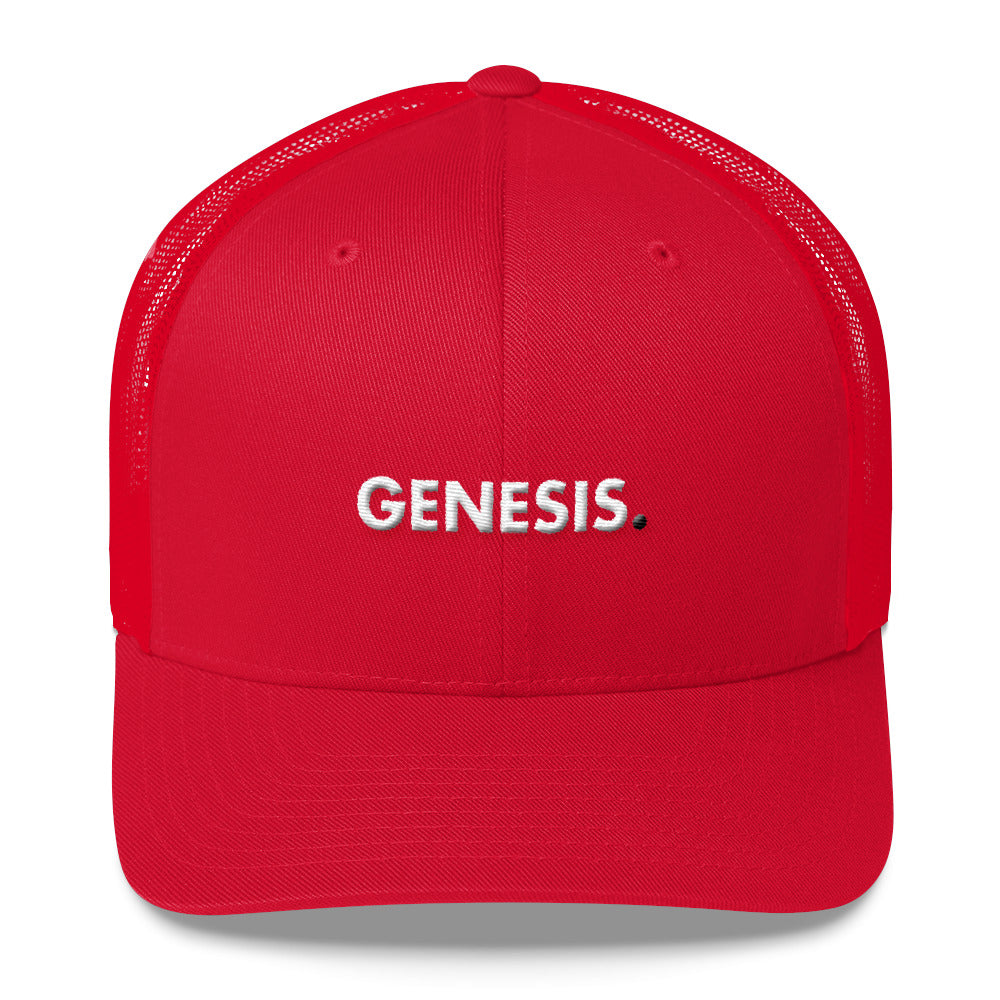 Trucker Cap | Genesis - Red - Cryppify