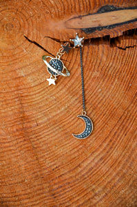 UK Moon Star Planet earrings