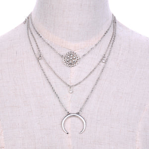 UK 3 Layer Moon Necklace