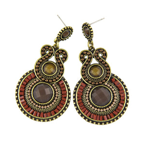 Antique Bohemia Style Enamel Beads Drop Earrings
