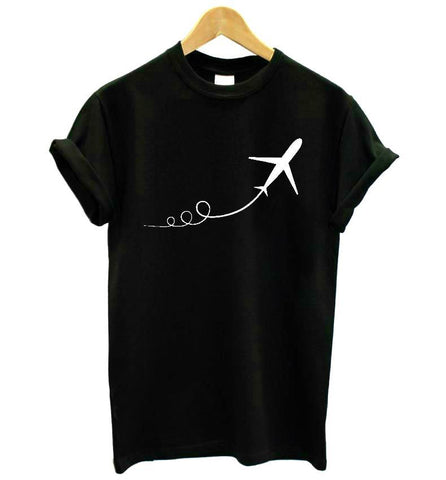 Airplane Taking Off Women's Graphic Tee - THE R/C LOUNGE