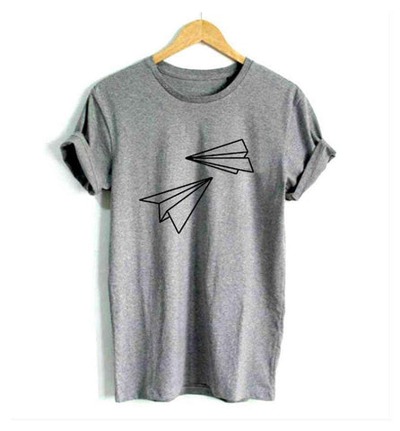 Paper Airplane Print Women's Graphic Tee - THE R/C LOUNGE