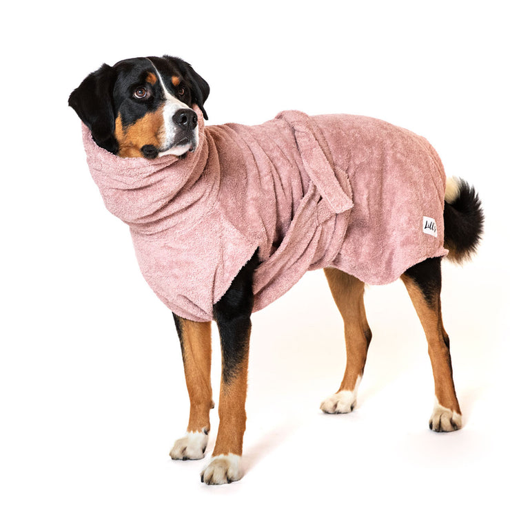Dog Drying Coat - Pink Berry