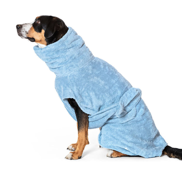 Dog Drying Coat - Ocean Blue