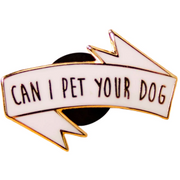 Pet Your Dog Enamel Pin