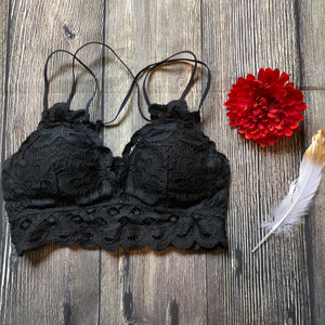 Sneak Peek Bralette - Charcoal